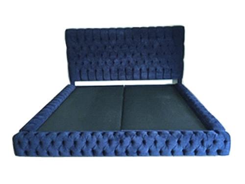 Base de cama capitoneada y cabecera con capitone makali for Como hacer una base para cama individual