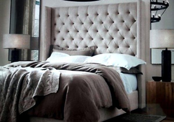 cabecera para cama capitoneada con laterales rectos