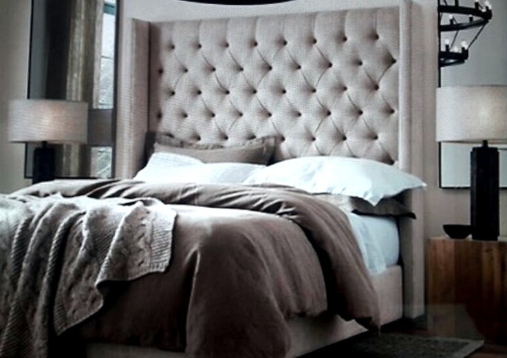 Cabecera para cama capitoneada con laterales rectos - Cabeceras de cama acolchadas ...