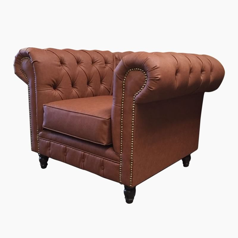 Sill N Chesterfield Individual En Vinil Tacto Piel