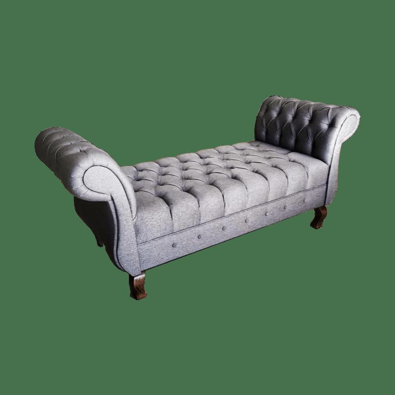 Sill n romano o pie de cama capitonado vintage prince for Sofas y sillones de diseno