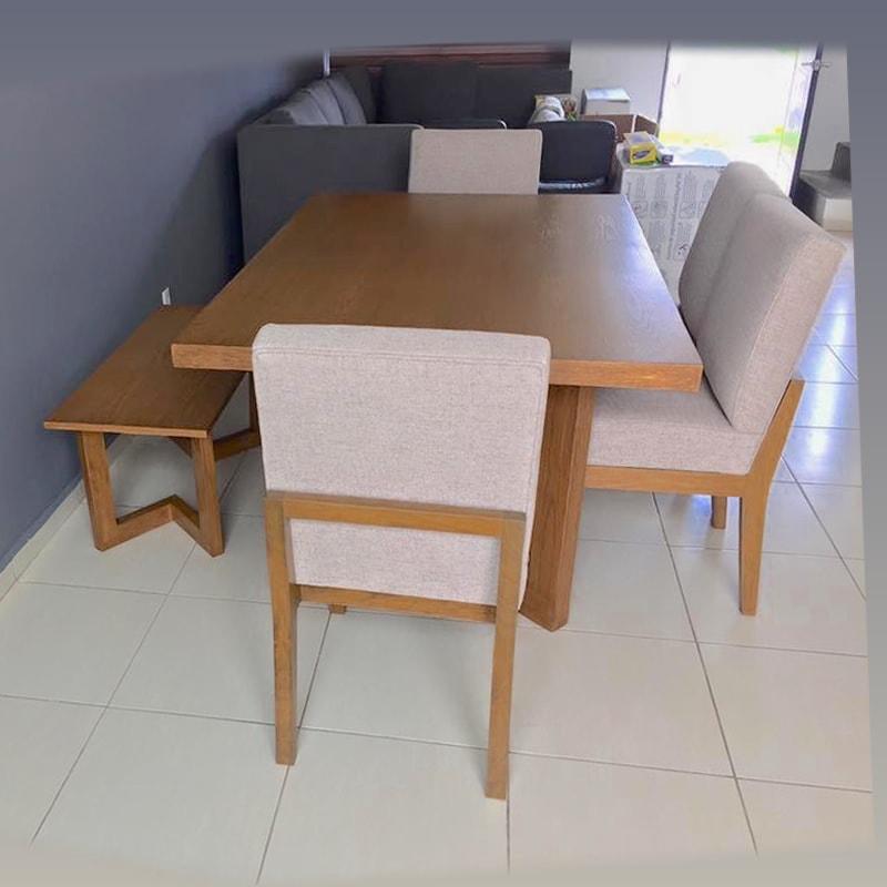 Comedor de madera de encino ensenada makali hogar m xico df - Comedor con banca ...