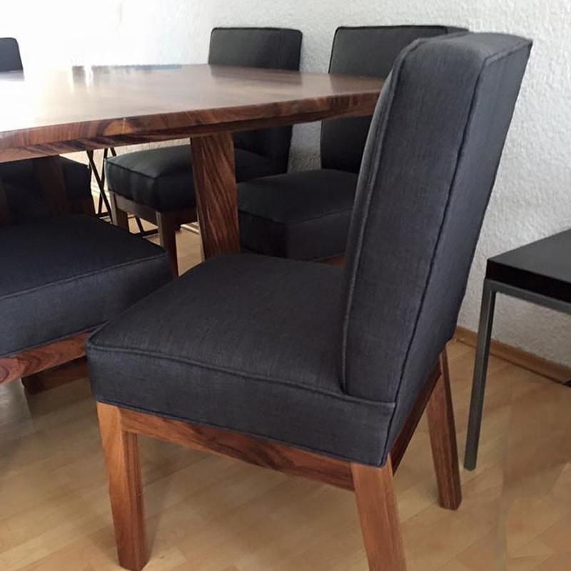 Comedor de madera parota s lida jerez makali hogar for Comedores ovalados de madera
