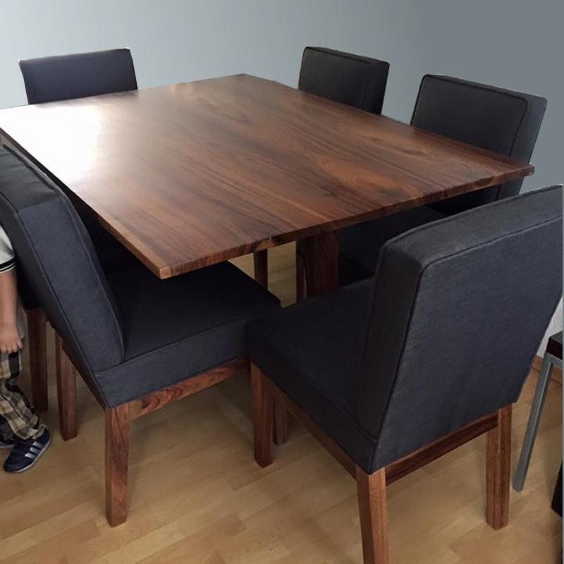 Comedor de madera parota s lida jerez makali hogar for Comedor de madera 6 sillas
